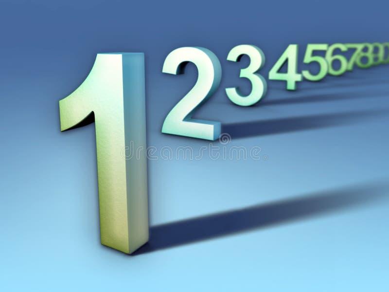 Seqüência do número ilustração do vetor