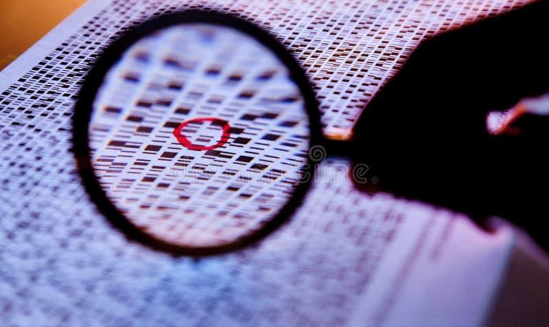 Seqüências unidas do ADN imagem de stock