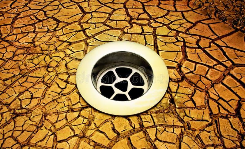 Sequía agrietada del dren de la tierra fotos de archivo libres de regalías