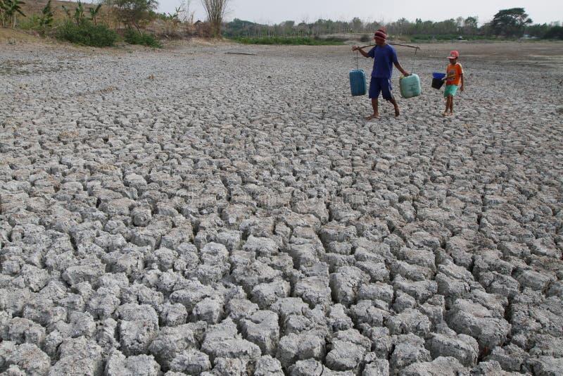 Sequía en Indonesia fotos de archivo libres de regalías