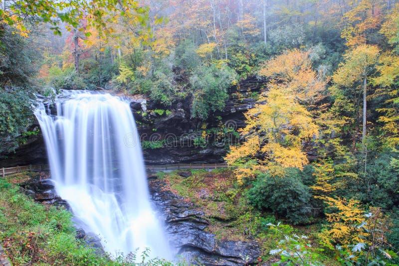 Seque las caídas Cullasaja Nantahala Forest Highlands NC fotografía de archivo libre de regalías