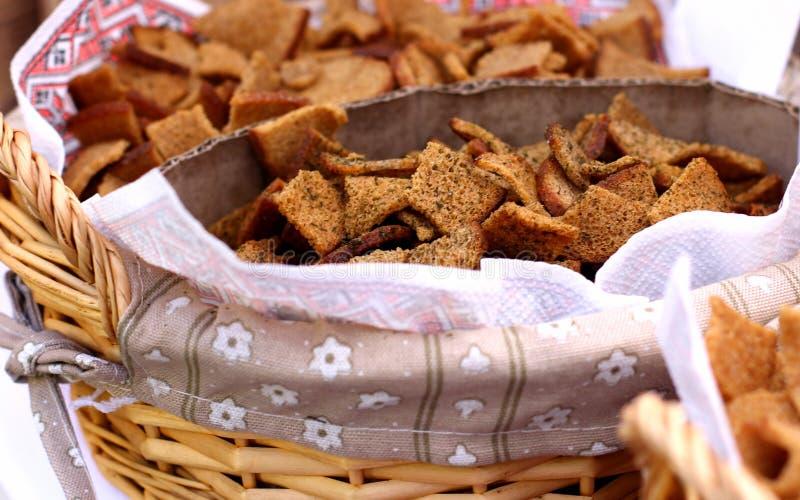 Seque las galletas cocidas de los panes imagen de archivo libre de regalías