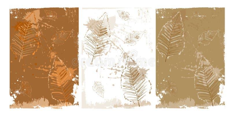 Seque las hojas stock de ilustración