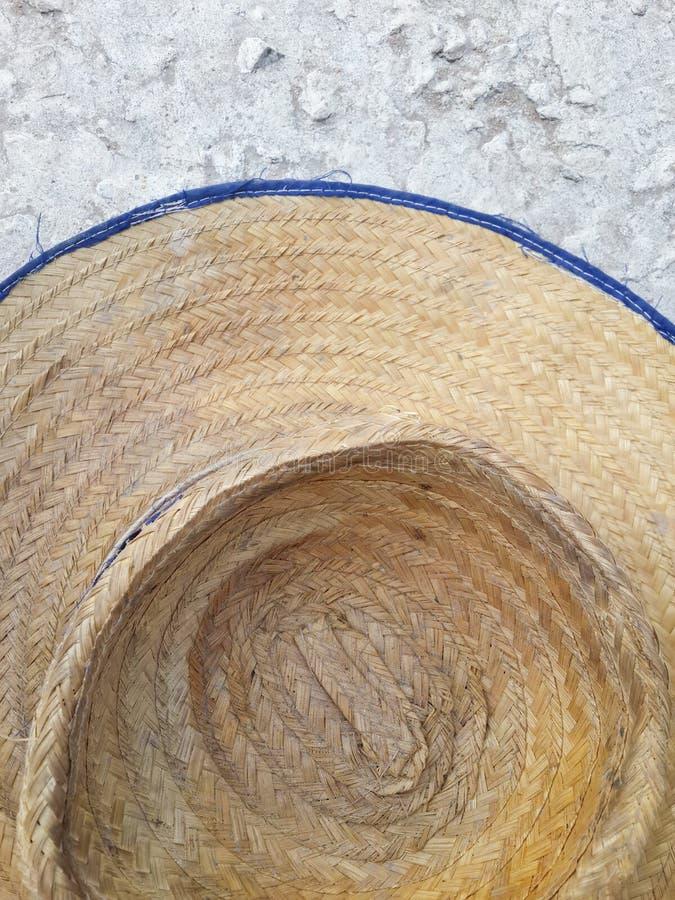 Seque o chapéu tecido imagens de stock