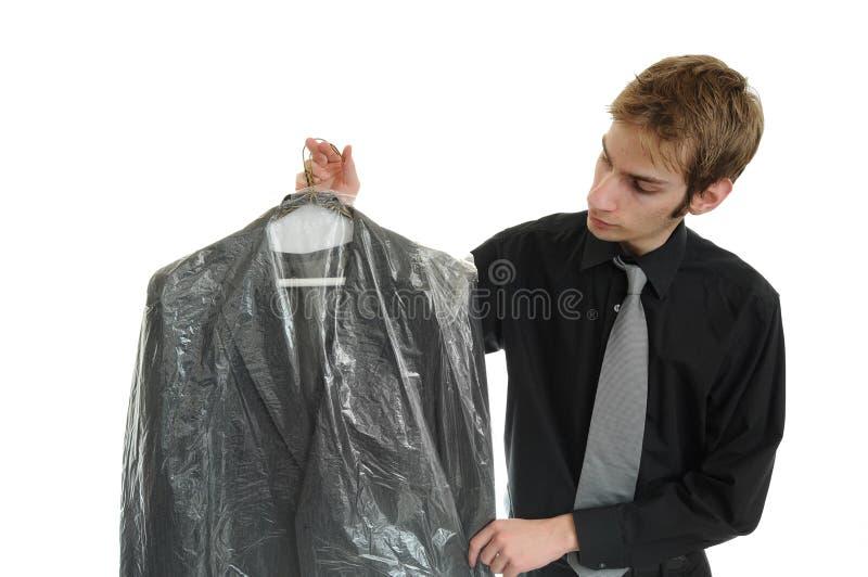 Seque o terno limpado fotografia de stock