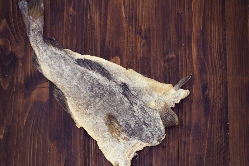Seque peixes de bacalhau salgados imagens de stock