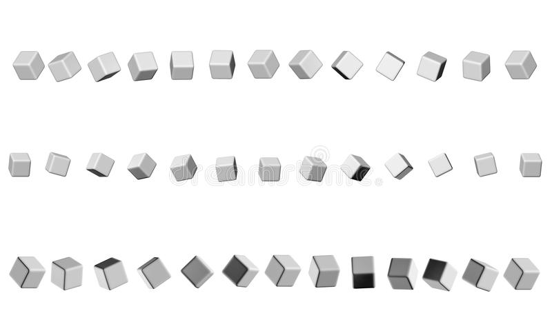 Sequence of cubes neutral gray color