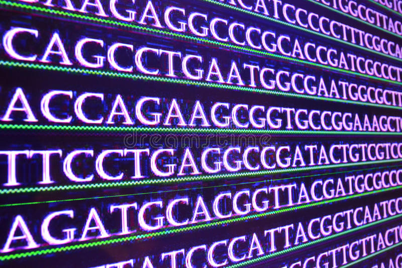 Sequence DNA. stock photography