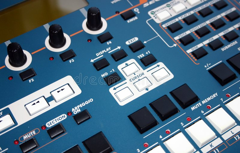 sequencer μουσικής στοκ εικόνες με δικαίωμα ελεύθερης χρήσης