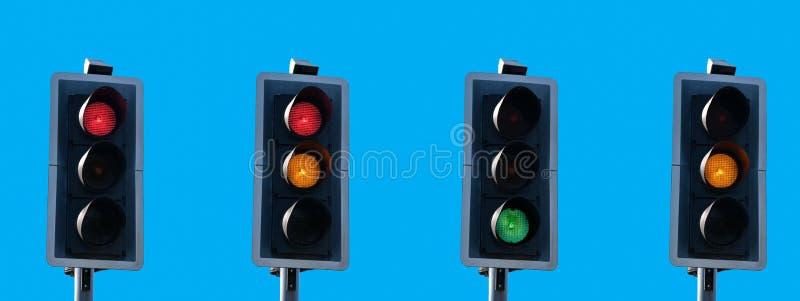 Sequenza del semaforo fotografia stock libera da diritti