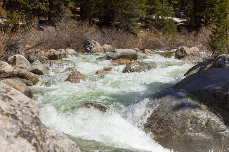 Sequoia εθνικό πάρκο - μαρμάρινο δίκρανο του ποταμού Kaweah στοκ εικόνα με δικαίωμα ελεύθερης χρήσης