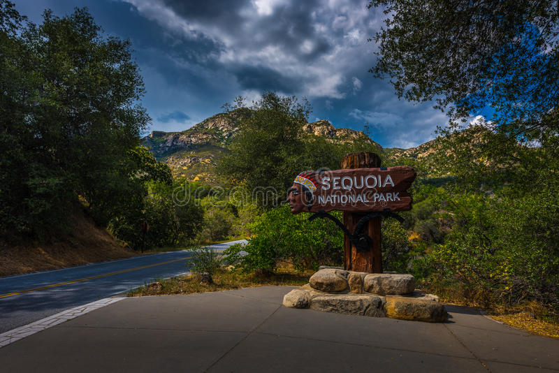 Sequoia National Park Entrance royalty free stock images