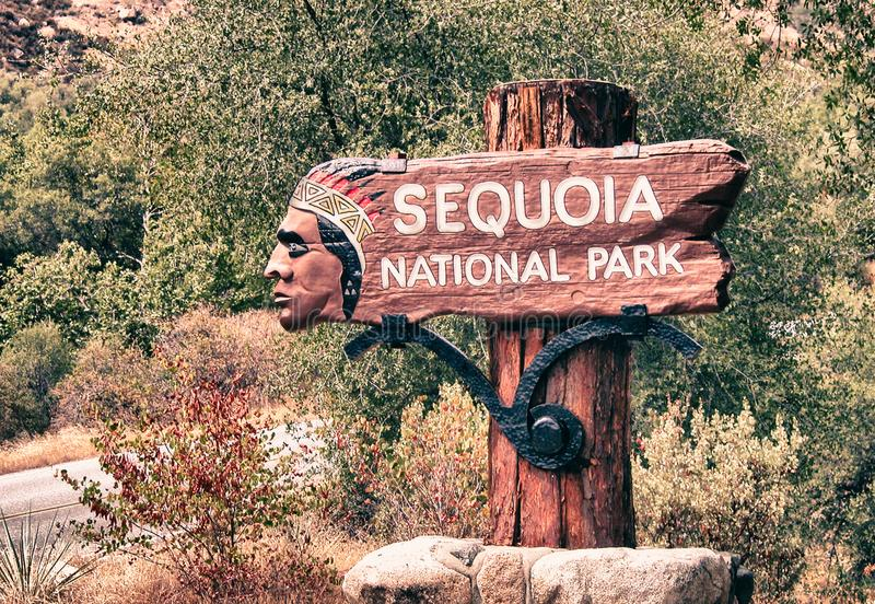 Sequoia Park Sign royalty free stock photo