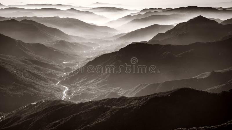 Sequoianationalpark royaltyfri fotografi