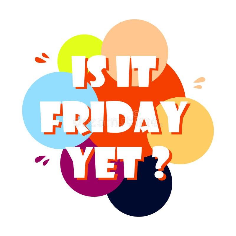 Será que é sexta-feira, mas a citação de Vetor Hand desenhou a citação de sexta-feira, uma ilustração positiva? ilustração do vetor