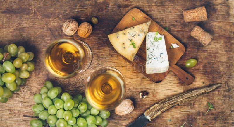 ser białego wina fotografia stock