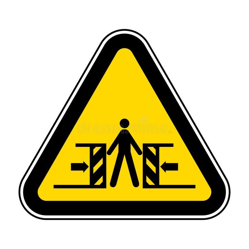 Ser cuidadoso o esmagamento do isolado do sinal do símbolo no fundo branco, ilustração EPS do vetor 10 ilustração do vetor
