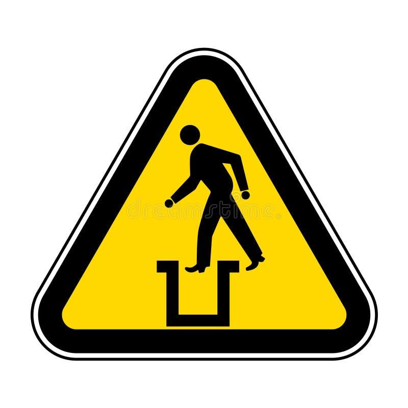 Ser cuidadoso o fundo branco sem fundo de Pit Symbol Sign Isolate On, ilustração EPS do vetor 10 ilustração do vetor