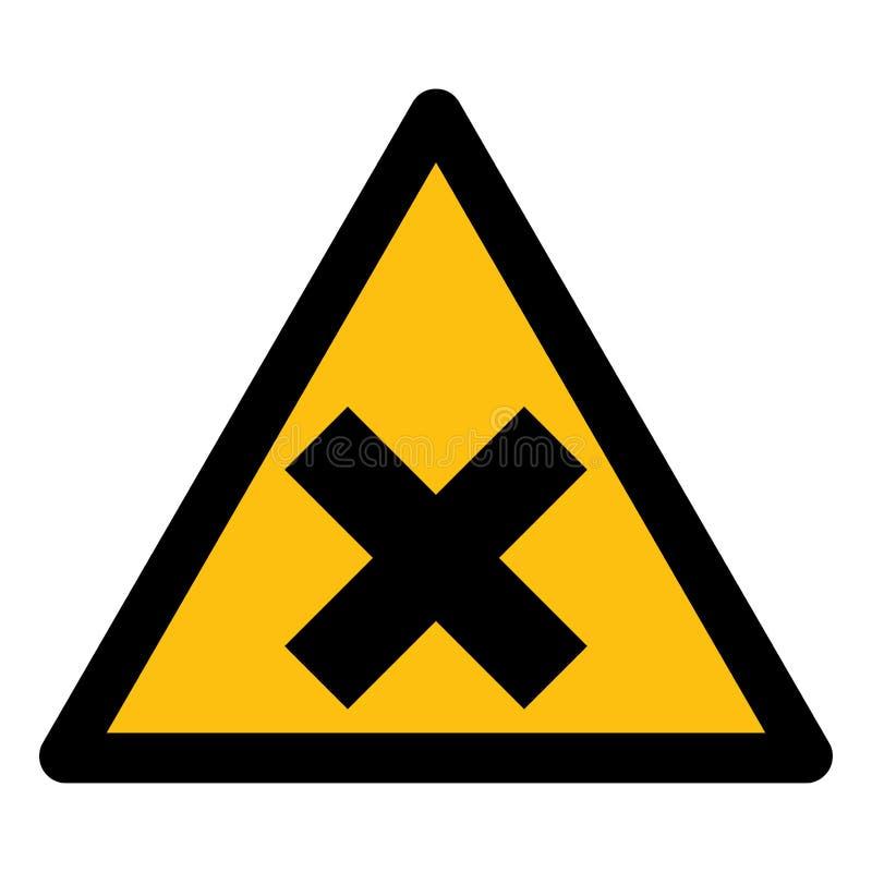 Ser cuidadoso o isolado amarelo do sinal do símbolo irritante no fundo branco, ilustração EPS do vetor 10 ilustração do vetor
