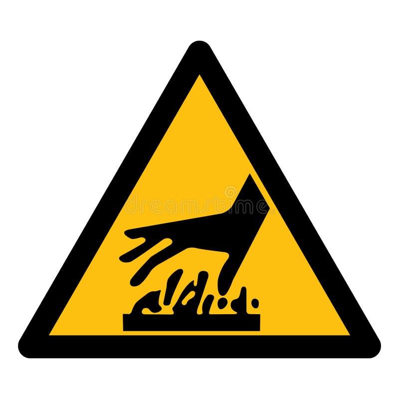 Ser cuidadoso o isolado de superfície quente do símbolo no fundo branco, ilustração EPS do vetor 10 ilustração royalty free