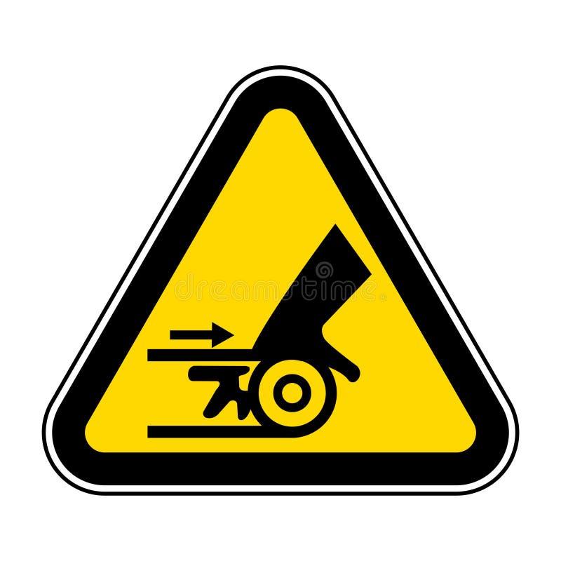Ser cuidadoso o isolado do sinal do símbolo da maquinaria móvel no fundo branco, ilustração EPS do vetor 10 ilustração stock