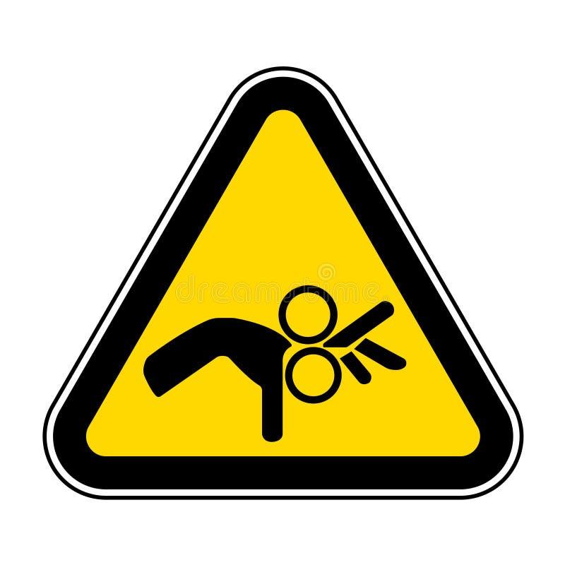 Ser cuidadoso o isolado do sinal do símbolo do rolo no fundo branco, ilustração EPS do vetor 10 ilustração royalty free