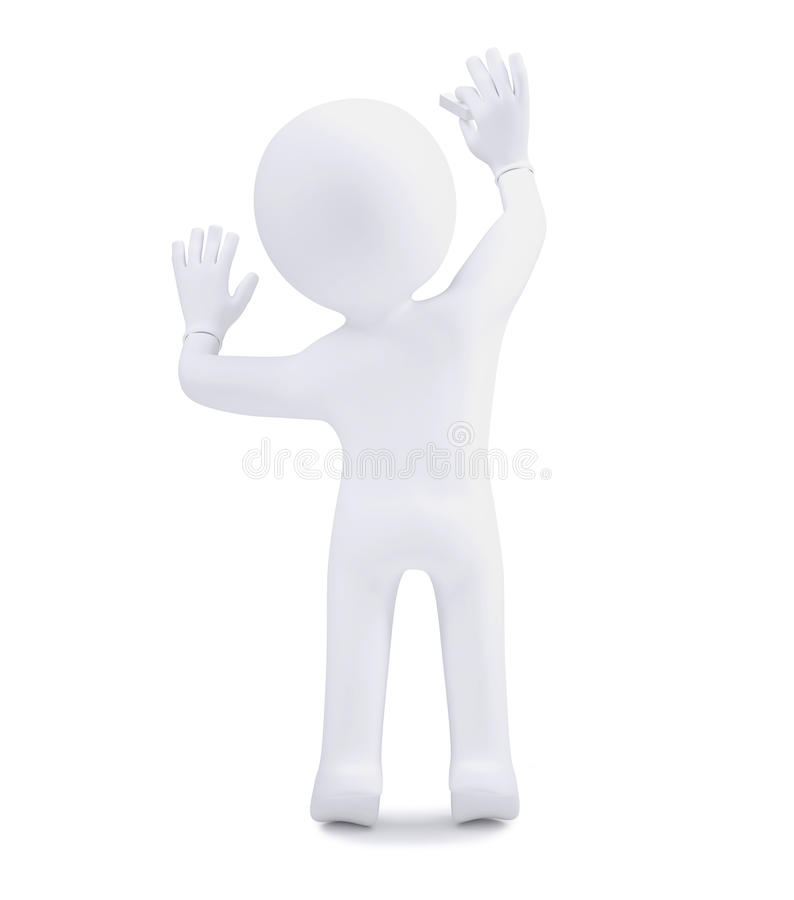 ser humano 3d com giz ilustração royalty free
