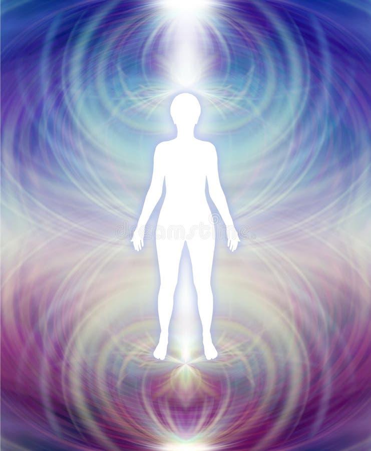 Ser humano Aura Energy Field ilustração stock