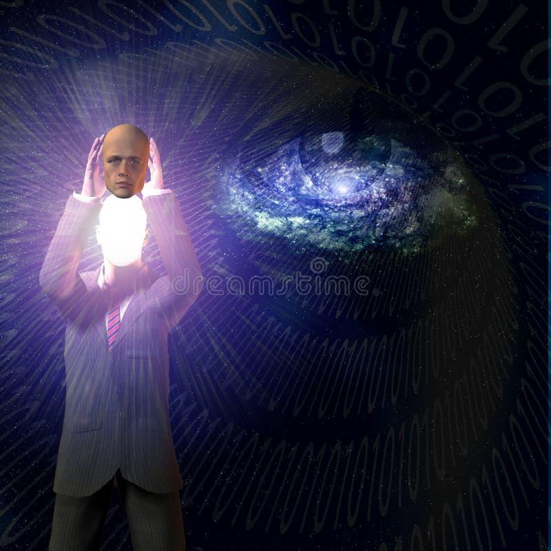 Ser humano binario ilustración del vector