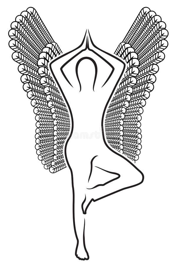 Ser humano com asas ilustração stock