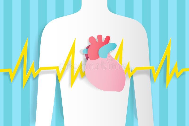 Ser humano com dor do coração ilustração do vetor
