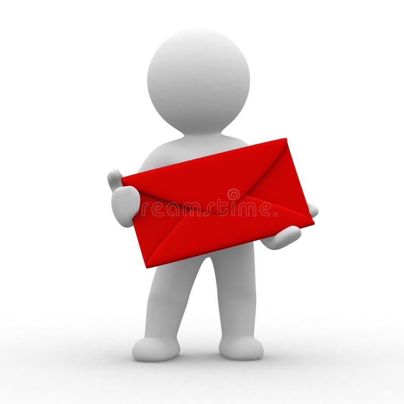 Ser humano com envelope