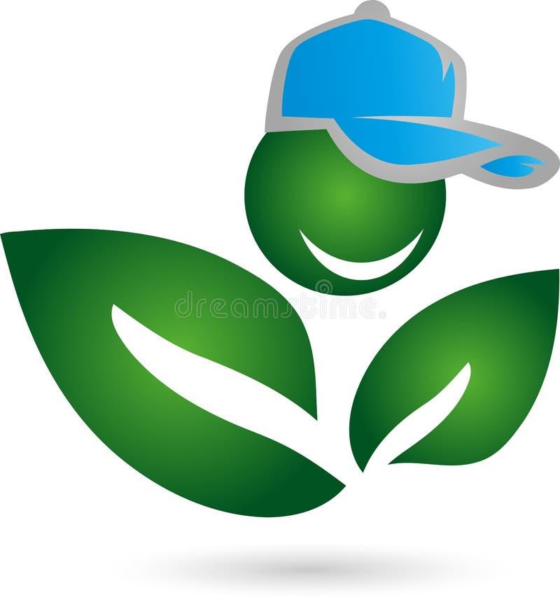 Ser humano como a planta, folhas, planta ilustração royalty free