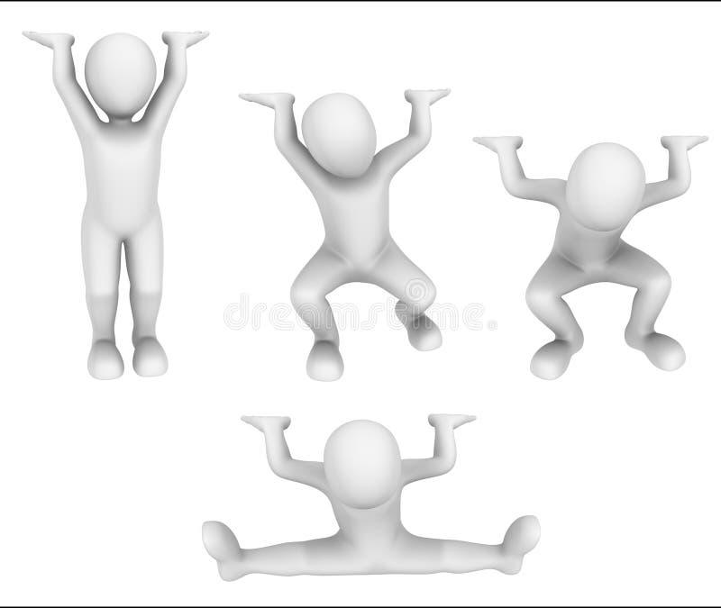 ser humano 3d abstrato com carga ilustração do vetor