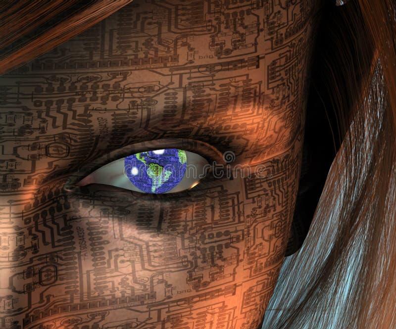 Ser humano da máquina ilustração royalty free