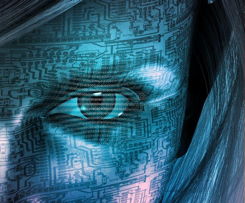 Ser humano de la tecnología stock de ilustración