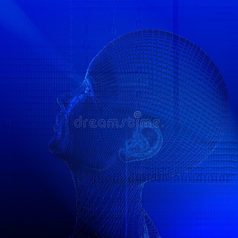 Ser humano de la tecnología libre illustration