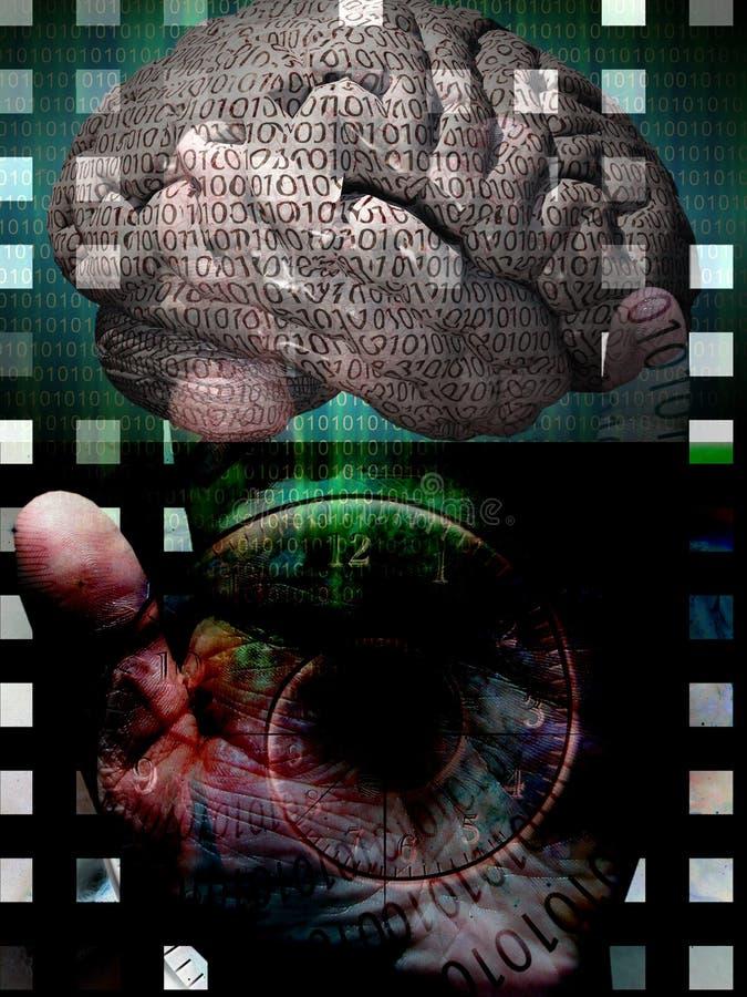 Ser humano del código binario ilustración del vector