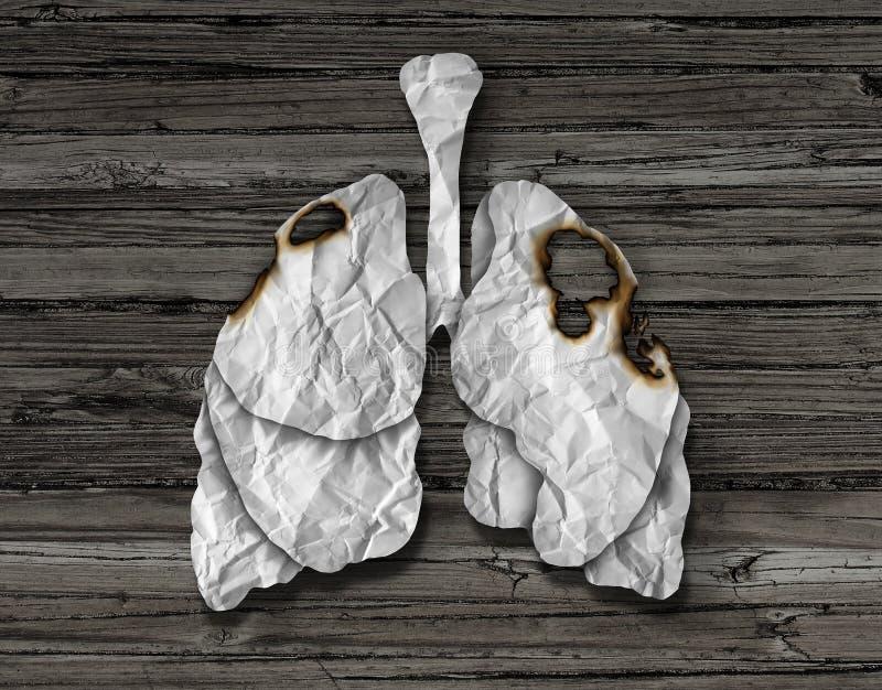 Ser humano Lung Cancer Concept ilustração royalty free