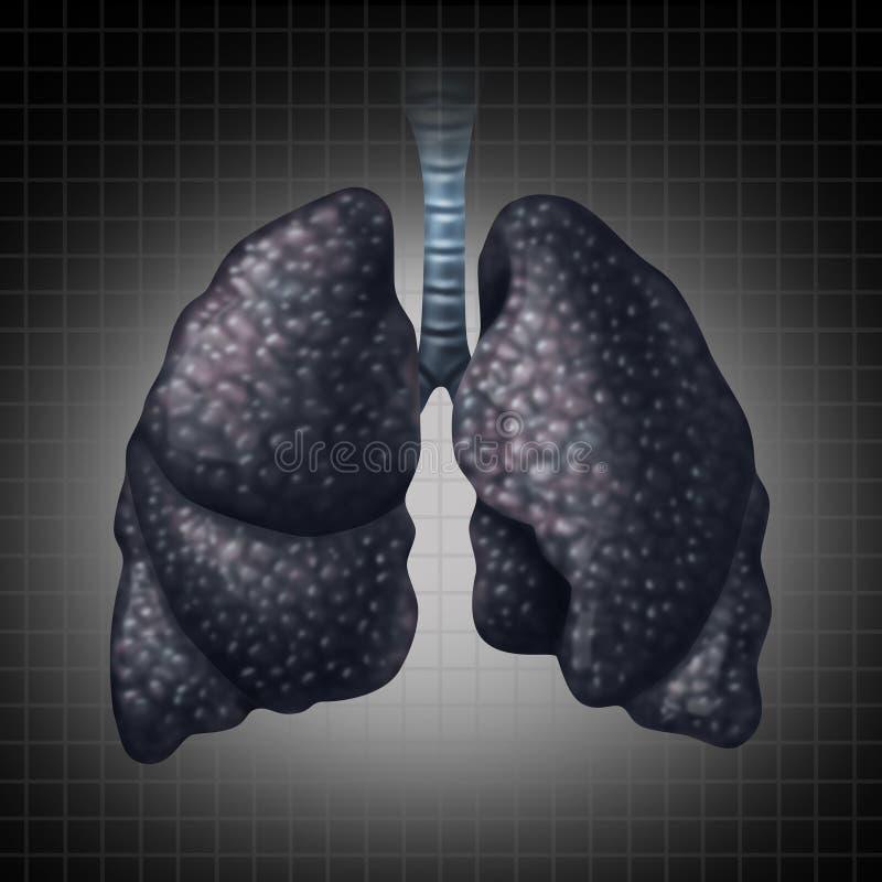 Ser humano Lung Disease ilustração do vetor