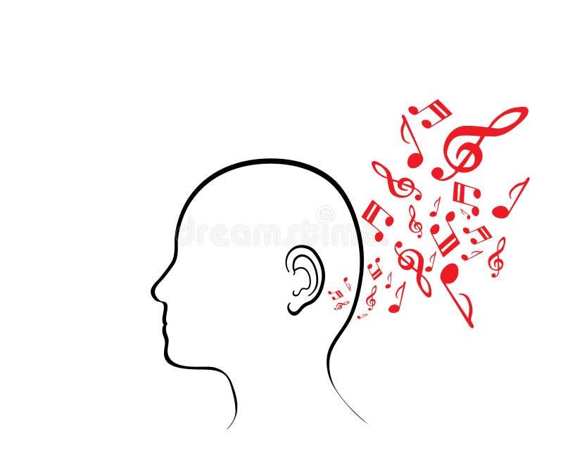 Ser humano musical stock de ilustración