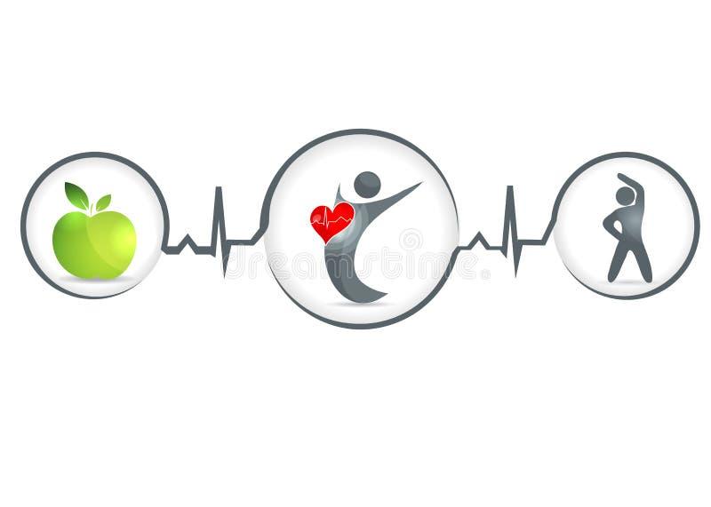Ser humano sano ilustración del vector
