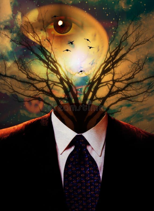 Ser humano surreal ilustração do vetor