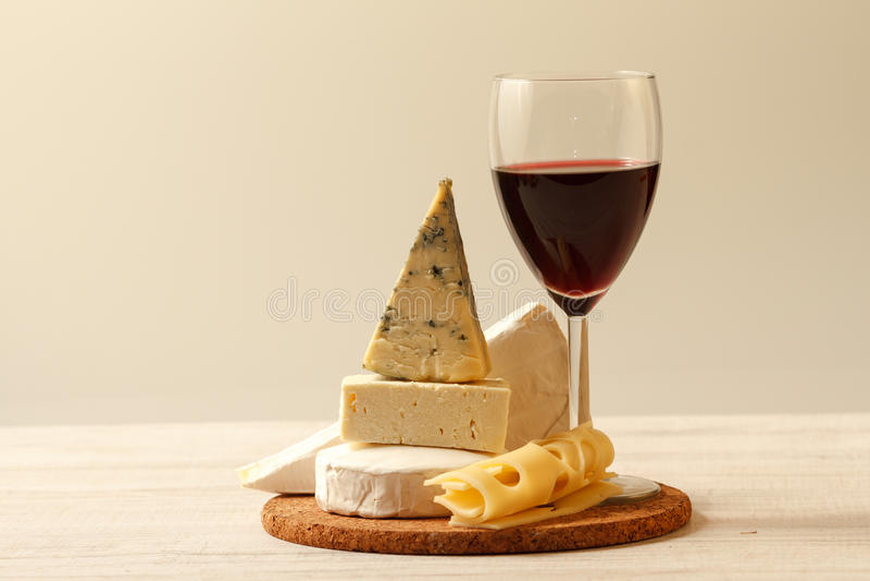 Ser i wino obraz stock