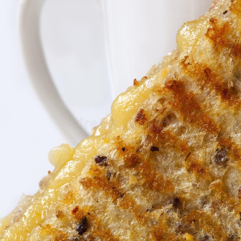 ser piec na grillu kanapka obrazy stock