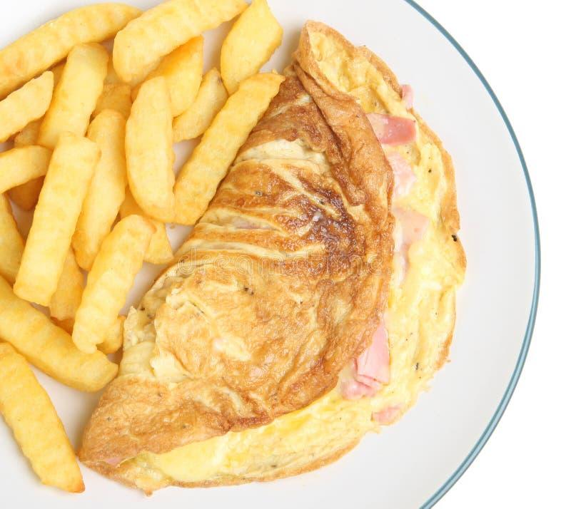 ser szczerbi się baleronu omlet zdjęcia stock