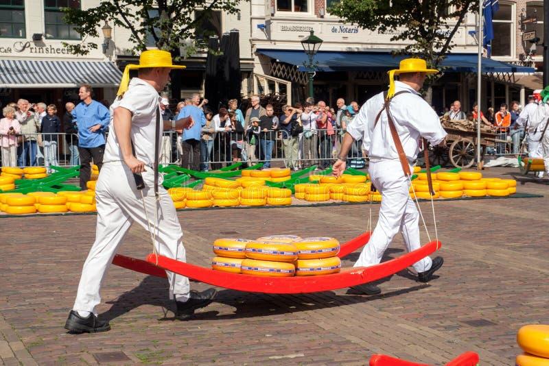Ser targowy Alkmaar Holandia obraz royalty free