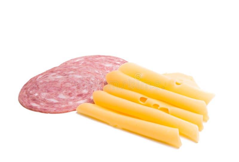ser z baleronem dla kanapek odizolowywać obraz royalty free