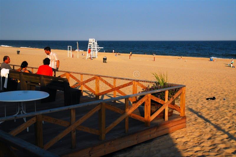 Sera alla spiaggia immagini stock