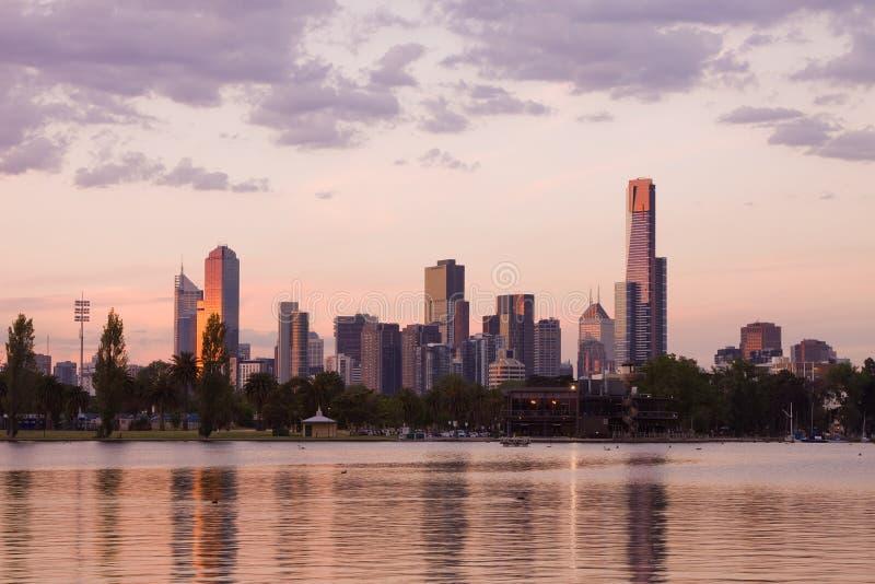 Sera CBD di Melbourne immagini stock libere da diritti